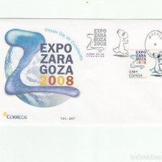 Sellos: SOBRE PRIMER DIA CIRCULACION-EDIFIL 4344-EXPOZARAGOZA 2008-2007. Lote 122118003