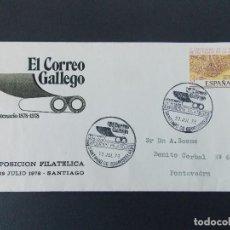 Sellos: SOBRE - MATASELLOS EXPO CENTENARIO EL CORREO GALLEGO - SANTIAGO COMPOSTELA 1978.. R-9406. Lote 122182935