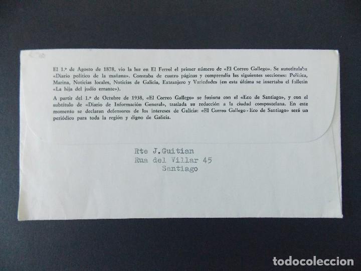 Sellos: SOBRE - MATASELLOS EXPO CENTENARIO EL CORREO GALLEGO - SANTIAGO COMPOSTELA 1978.. R-9406 - Foto 2 - 122182935