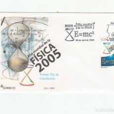 Sellos: SOBRE PRIMER DIA CIRCULACION-EDIFIL 4163-AÑO MUNDIAL DE LA FISICA-2005. Lote 122296399