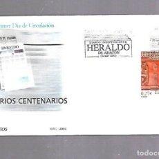 Sellos: SOBRE PRIMER DIA. DIARIOS CENTENARIOS. EL HERALDO DE ARAGON. 2004. Lote 122649227