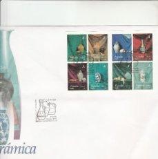 Sellos: SOBRE PRIMER DIA CIRCULACION-EDIFIL 4102/4109-CERAMICA-2004. Lote 122688171
