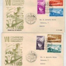 Sellos: PAREJA SPD FERROCARRILES 1958. Lote 122914123