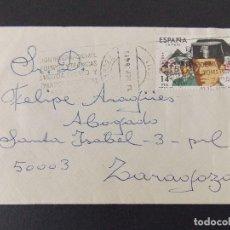 Sellos: SOBRE CIRCULADO - MATASELLOS EXPO EQUIPOS Y TECNICAS ENSAYO INDUSTRIALES - ZARAGOZA , 1982... R-9592. Lote 123444039