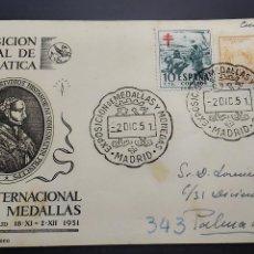 Sellos: II EXPOSICIÓN NACIONAL DE NUMISMÁTICA. MADRID 2 DE DICIEMBRE DE 1951.. Lote 123498019