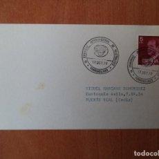 Sellos: TARJETA. IX CONGRESO INTERNACIONAL DE TELETRAFICO TORREMOLINOS. 1979. PUERTO REAL, CADIZ.. Lote 124340675