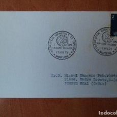 Sellos: TARJETA. COLEGIO OFICIAL INGENIEROS T. EN TOPOGRAFIA BARCELONA. 1978. PUERTO REAL, CADIZ.. Lote 124341011