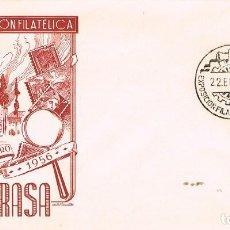 Sellos: AÑO 1956, PRIMERA EXPOSICION FILATELICA EN TARRASA. Lote 125088687