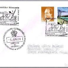Sellos: MATASELLOS EXPOSICION ITINERANTE - COMISION JUVENTUD. PORTUGALETE, VIZCAYA, PAIS VASCO, 2000. Lote 125124399