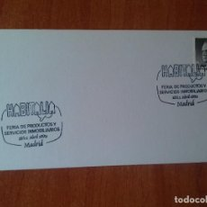 Sellos: TARJETA. HABITALIA. FERIA DE PRODUCTOS Y SERVICIOS INMOBILIARIOS. 1990 MADRID.. Lote 126091639