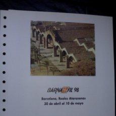 Sellos: DOCUMENTO FILATELICO - BARNA FIL 98 - BARCELONA REALES ATARAZANAS. Lote 126316543