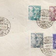 Sellos: AÑO 1953, SALAMANCA, VII CENTENARIO DE LA UNIVERSIDAD DE SALAMANCA, FRAGMENTO TAMAÑO SOBRE. Lote 126880903
