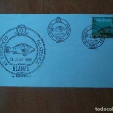 Sellos: SOBRE. XX EXPOSICION FILATELICA. BLANES. 1989.. Lote 139879102