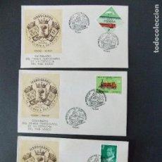 Sellos: 3 SOBRES , MATASELLOS CENTENARIO FERROCARRIL DE BILBAO A DURANGO - 1983 - DIFERENTES SELLOS ..R-9831. Lote 127766959