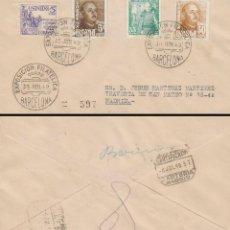Sellos: AÑO 1949, FERIA INTERNACIONAL MUESTRAS BARCELONA, SOBRE CIRCULADO. Lote 128464123