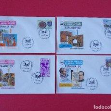 Sellos: LOTE 4 SOBRES EXPO FILATELICA AMERICA Y EUROPA - ESPAMER 80 - MATASELLOS BILBAO 1980.. R-9849. Lote 128624703