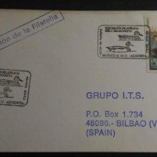 Sellos: SOBRE PRIMER DIA. EXPOSICION FILATELICA, ALGORTA (VIZCAYA). SELLOS, MATASELLOS. Lote 129315199