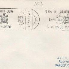 Sellos: MADRID 1984 - FERIA TIEMPO LIBRE EXPO OCIO 84 - SOBRE CON MATASELLOS DE RODILLO. Lote 130933900