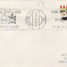 Sellos: MADRID 1985 - FERIA TIEMPO LIBRE , EXPO OCIO 85 - SOBRE CON MATASELLOS DE RODILLO. Lote 131004564