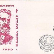 Sellos: JULIO VERNE 75 ANIVERSARIO EXPOSICION VIGO PONTEVEDRA 1980 RARO MATASELLOS SUBMARINO SOBRE ILUSTRADO. Lote 131122288
