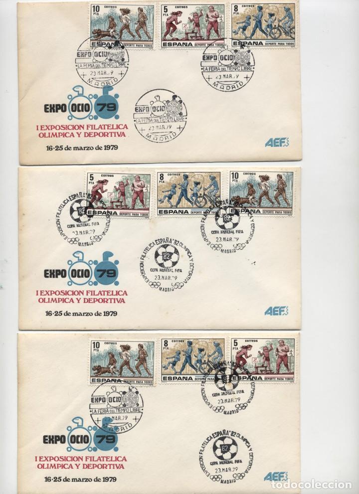 Sellos: 6 SOBRES MATASELLOS MADRID 1979 EXPOOCIO-79 I EXPOSICIÓN OLIMPICA Y DEPORTIVA + HOJA RECUERDO año 19 - Foto 2 - 131156084