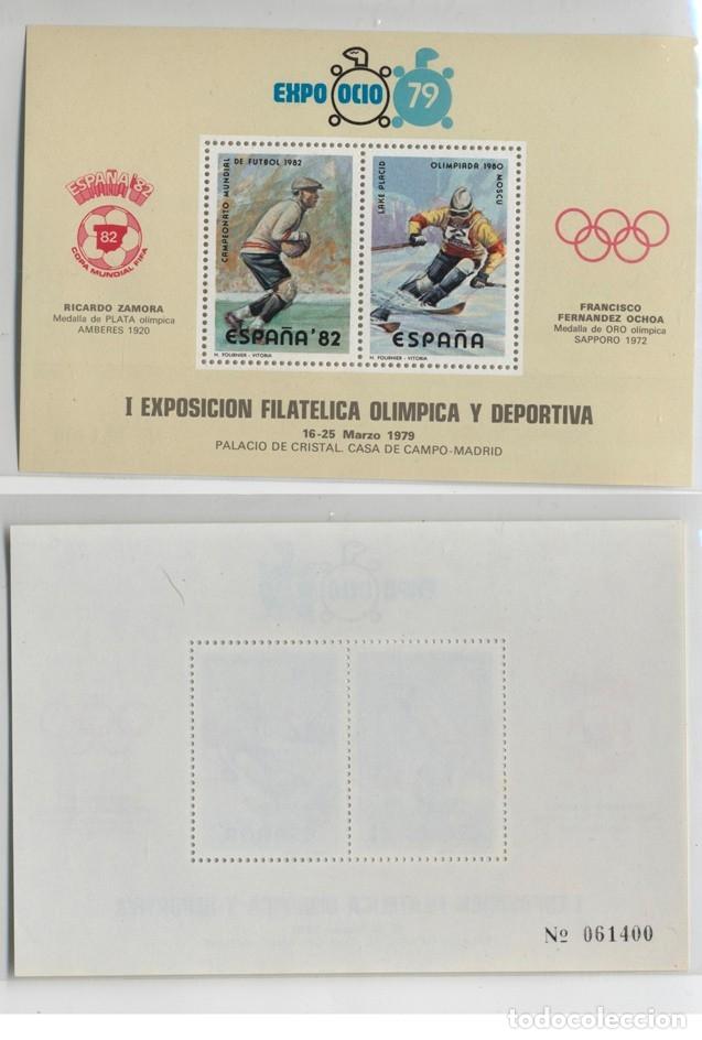 Sellos: 6 SOBRES MATASELLOS MADRID 1979 EXPOOCIO-79 I EXPOSICIÓN OLIMPICA Y DEPORTIVA + HOJA RECUERDO año 19 - Foto 3 - 131156084
