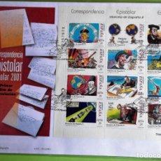 Sellos: ESPAÑA. 3822/33 CORRESPONDENCIA EPISTOLAR ESCOLAR. HISTORIA DE ESPAÑA: COLÓN, TRATADO DE TORDESILLAS. Lote 131427226