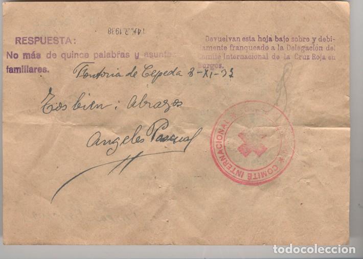 Sellos: Formulario de mensaje -Ficha- Matasellos del Comité Internacional de Ginebra. - Foto 2 - 131510030