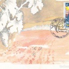 Sellos: VINO V TALLER DE FILATELIA JUVENIL, LAGUARDIA (ALAVA) 1991. RARO MATASELLOS EN BONITA TARJETA.. Lote 134013802