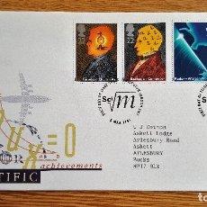Sellos: SOBRE FRANQUEO SELLOS STAMP 1991 ENGLAND SCIENTIFIC. Lote 134027698