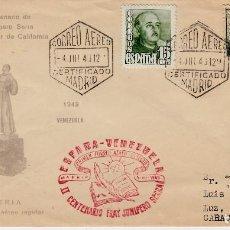 Sellos: MATASELLOS CORREO AEREO ESPAÑA - VENEZUELA 1949. Lote 134445926