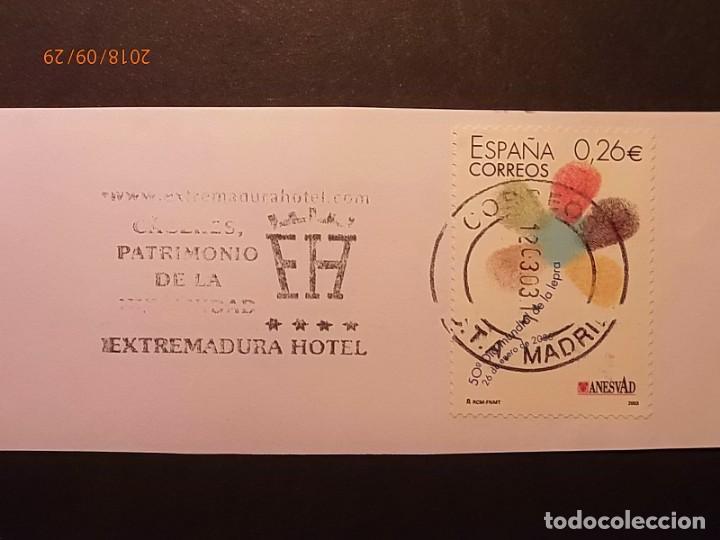 RODILLO - CÁCERES - PATRIMONIO DE LA HUMANIDAD - EXTERMADURA HOTEL. (Sellos - Historia Postal - Sello Español - Sobres Primer Día y Matasellos Especiales)