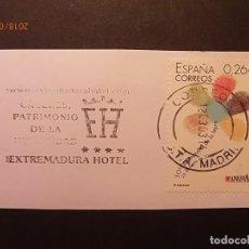 Sellos: RODILLO - CÁCERES - PATRIMONIO DE LA HUMANIDAD - EXTERMADURA HOTEL.. Lote 134882322