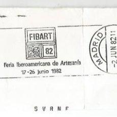 Sellos: FRAGMENTO CON MATASELLOS RODILLO MADRID FERIA IBEROAMERICANA ARTESANIA. Lote 135450866