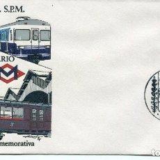 Sellos: FERROCARRIL METROPOLITANO DE BARCELONA-EXPOSICIÓN ANIVERSARIO-1974 RARO SELLO PESETAS 2. Lote 135741743