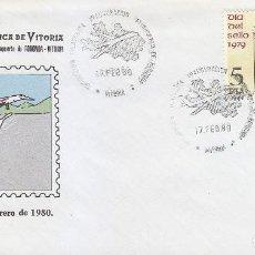 Briefmarken - INAUGURACION AEROPUERTO DE FORONDA EXPOSICION, VITORIA (ALAVA) 1980. RARO MATASELLOS SOBRE ILUSTRADO - 135840126