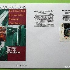 Selos: ANDORRA E. SPD 288 AUDITORIO NACIONAL. 2001. MATASELLO PRIMER DÍA: 20 SEPTIEMBRE 2001 ANDORRA LA VEL. Lote 136834066