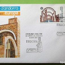 Selos: ANDORRA E. SPD 196/97 EUROPA_CEPT: SANTUARIO DE MERITXELL. 1987. MATASELLO PRIMER DÍA: 15 MAYO 1987 . Lote 137113054