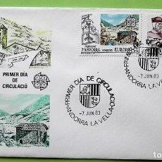 Selos: ANDORRA E. SPD 168/69 EUROPA_CEPT: IGLESIA CORTINADA Y MOLINO HIDRÁULICO. 1983. MATASELLO PRIMER DÍA. Lote 137120274