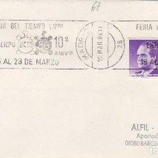Sellos: MADRID 1986 - FERIA TIEMPO LIBRE EXPO OCIO 86 - SOBRE CON MATASELLOS DE RODILLO. Lote 137747154