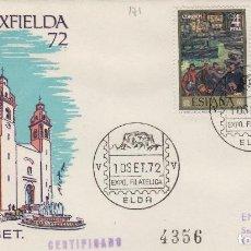 Timbres: 1972 ELDA ( ALICANTE ) - V EXPOSICION FILATÉLICA , EXFIELDA 72 - SOBRE ALFIL CON MATASELLOS . Lote 138081270