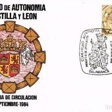 Sellos: ESPAÑA - EDIFIL 2741 - SOBRE PRIMER DÍA DE CIRCULACIÓN - ESTATUTO AUTONOMIA CASTILLA Y LEÓN - NUEVO. Lote 138600486