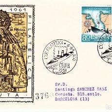 Sellos: MATASELLOS EXPOSICION FILATELICA CEUTA -1961- SOLICITE LOS MATASELLOS QUE LE FALTEN-. Lote 138853594
