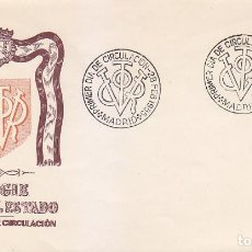 Sellos: GENERAL FRANCO 1955-1956 (EDIFIL 1146) EN SOBRE PRIMER DIA DEL SERVICIO FILATELICO. RARO ASI.. Lote 139173526
