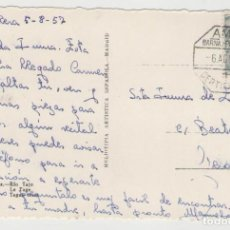 Sellos: NUMULITE POSTAL 0358 MATASELLO AMBULANTE BARCELONA PORTBOU PORT-BOU 1957 ARANJUEZ RÍO TAJO. Lote 139911714