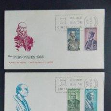 Sellos: PESONAJES ESPAÑOLES - 1966 - COMPLETA EDIFIL 1705/08 - EN 2 SOBRES PRIMER DIA ... A284. Lote 140234070