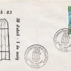 Sellos: AÑO 1983, GAVA, CONCURSO EXPOSICION DE ESPARRAGOS EN GAVÁ, SOBRE DE LA EXPOSICION. Lote 140285722