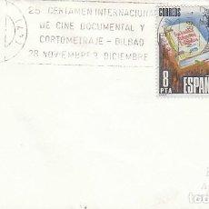 Sellos: AÑO 1983, BILBAO, CERTAMEN INTERNACIONAL DE CINE DOCUMENTAL Y CORTOMETRAJE, RODILLO. Lote 194281538
