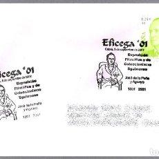 Sellos: MATASELLOS EFICEGA'01 - JOSE DE A PEÑA Y AGUAYO. CABRA, CORDOBA, ANDALUCIA, 2001. Lote 156019445