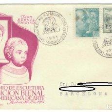 Sellos: SOBRE (MADRID 1951), ALFIL: GRAN PREMIO DE ESCULTURA - I EXPOSICIÓN BIENAL HISPANO AMERICANA DE ARTE. Lote 141334790